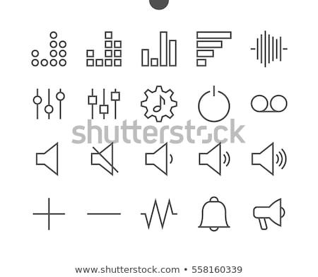 conjunto · Áudio · alto-falantes · branco · projeto - foto stock © nasonovicons