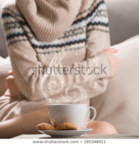 Csésze forró ital tea kávé zab Stock fotó © HASLOO