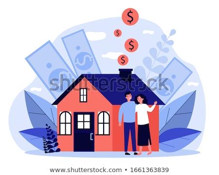 жилье доллара иллюстрация 3D оказанный Сток-фото © head-off