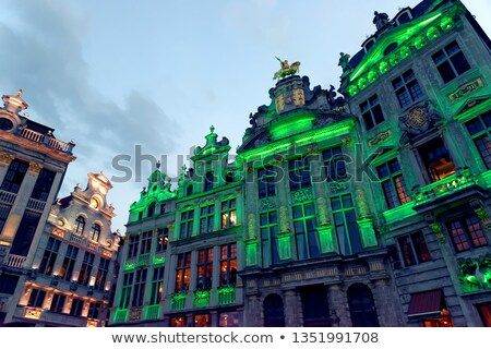 One of the Guildhalls on the Grand Place in Brussels. Stock photo © chrisdorney