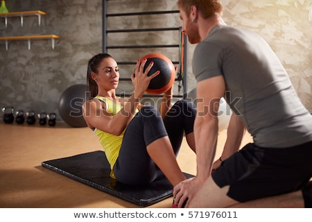 anatómia · tornaterem · fitnessz · edző · magyaráz · alapvető - stock fotó © photography33