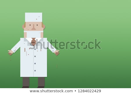 Doctor in a bloody robe Stock photo © Andersonrise