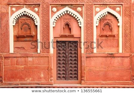 building fragment with door in India Stock photo © Mikko
