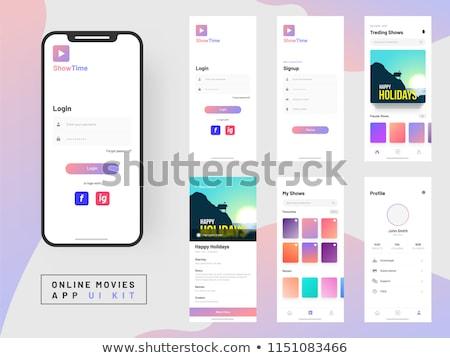 Login página interface móvel aplicativo Foto stock © archymeder