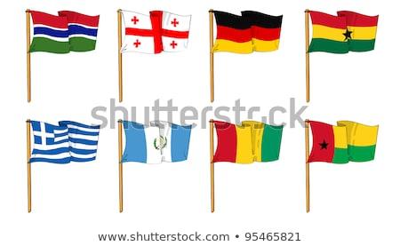 Banderą Gambia strony kolor kraju stylu Zdjęcia stock © claudiodivizia