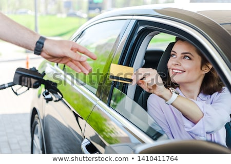 Stock photo: car at gas station
