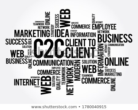 B2C. The Wordcloud Concept. Stock photo © tashatuvango