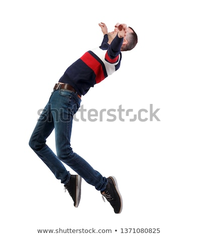 casual man balancing on his toes Stock photo © feedough