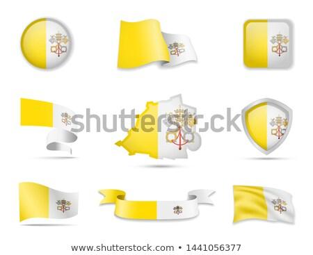 vaticano · bandeira · esfera · isolado · branco - foto stock © asturianu