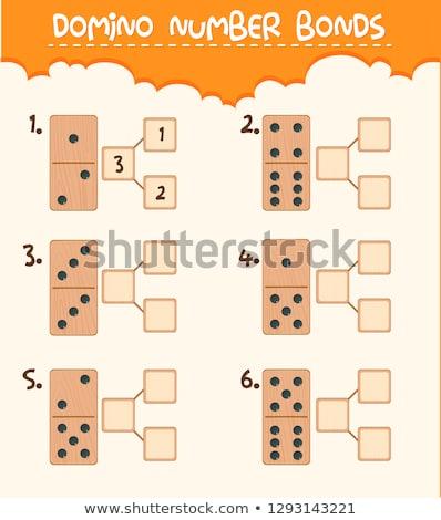 wooden domino alphabetg stock photo © stoonn