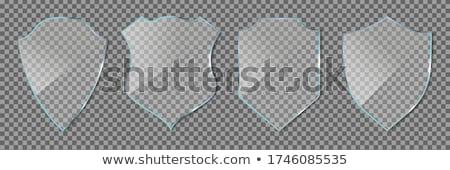 Blauw glanzend icon scratch vector Polen Stockfoto © Myvector