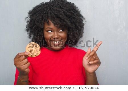 Meisje biscuits asian park voedsel Stockfoto © stoonn