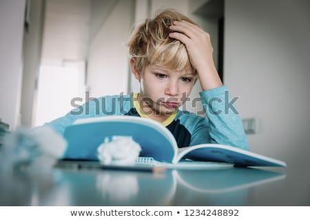 мало · мальчика · домашнее · задание · стороны · голову - Сток-фото © get4net