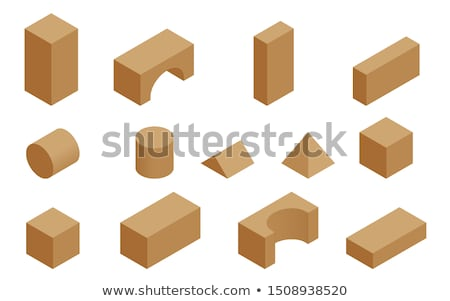Small wooden building blocks isolated Stock photo © michaklootwijk