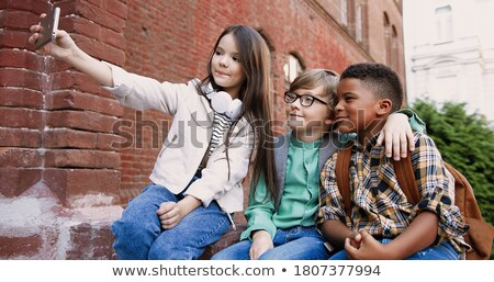 cute child making picture Stock photo © gewoldi