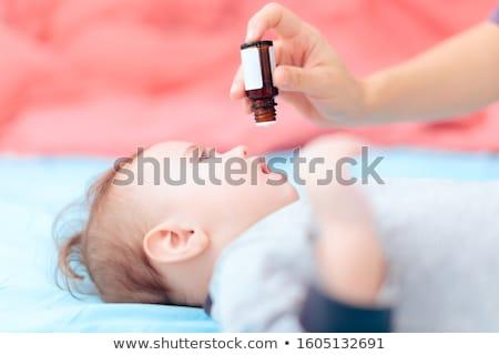 Baby administratief klein meisje papieren kantoor Stockfoto © jarp17