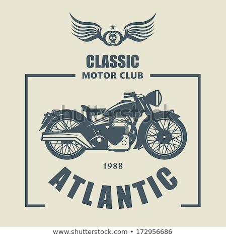 highly detailed illustration of classic motorcycle Stock photo © dmitriynaboka