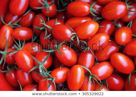 frescos · baguettes · tomates · rojo · placa - foto stock © klsbear