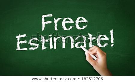 livre · estimar · serviço · contrato · cliente · contabilidade - foto stock © kbuntu