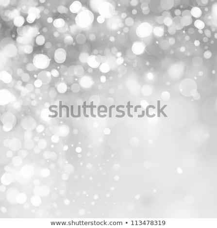 Gümüş kar taneleri kabarcıklar doku mutlu dizayn Stok fotoğraf © impresja26