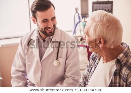 インド · 医療 · 医師 · 患者 · 家族 · 笑みを浮かべて - ストックフォト © ichiosea