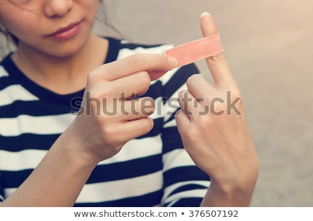 cut in the finger stock photo © armin_burkhardt