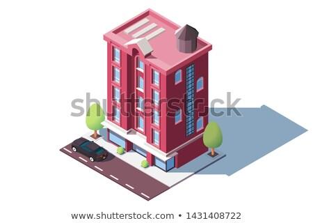Red building level Stock photo © cherezoff