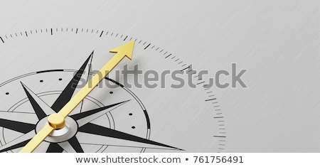 Stock photo: Metal Compass