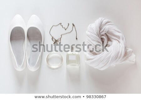 white things, shoes, scarf, perfumes and jewelry stock photo © manera
