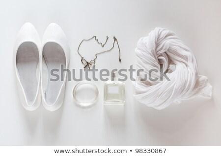 fehér · dolgok · cipők · sál · ékszerek · divat - stock fotó © manera