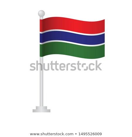Gambia Small Flag on a Map Background. Stock photo © tashatuvango