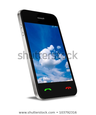 Smart Phone with Cloud of Media Application Stock photo © designers