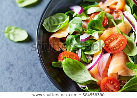 salad with smoked salmon Stock photo © M-studio
