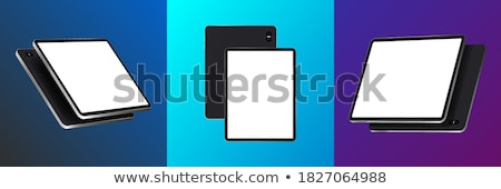 Tablet pc black color front and back Stock photo © lemonti