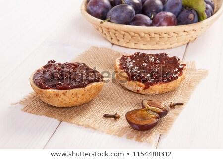 Stok fotoğraf: Plum Jam And Bread