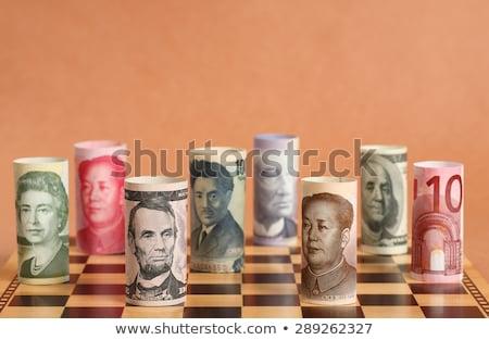 valuta · háború · 3D · arany · szimbólumok · sakktábla - stock fotó © oneo2