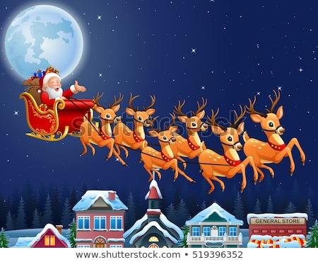 サンタクロース 飛行 そり 実例 クリスマス 1泊 ストックフォト © carbouval