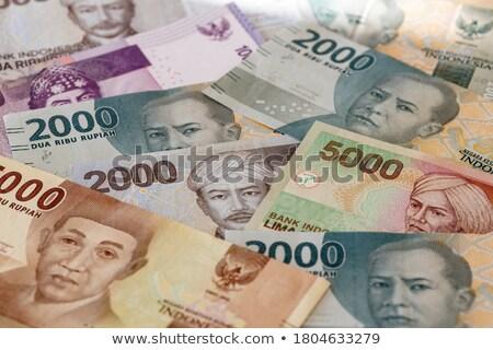 Különböző indonéz bankjegyek asztal pénz textúra Stock fotó © CaptureLight