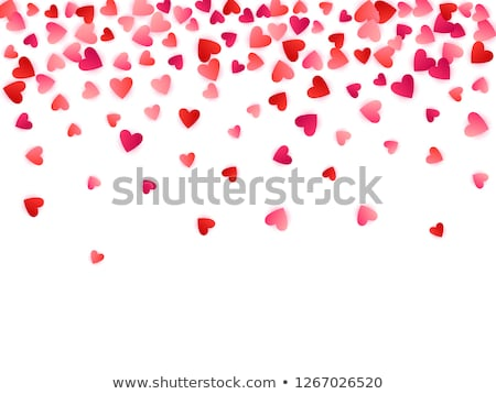 yakut · kırmızı · kalp · kalp · şekli · toplama · değerli - stok fotoğraf © kacpura
