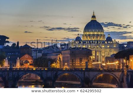 belle · panorama · nuit · Rome · Italie · ciel - photo stock © tannjuska