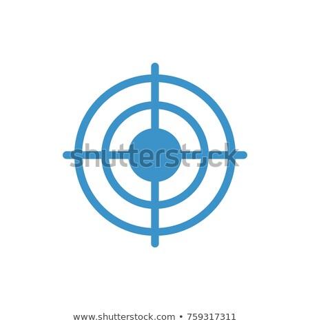Stock fotó: Célkereszt · ikon · fehér · kereszt · háló · fegyver
