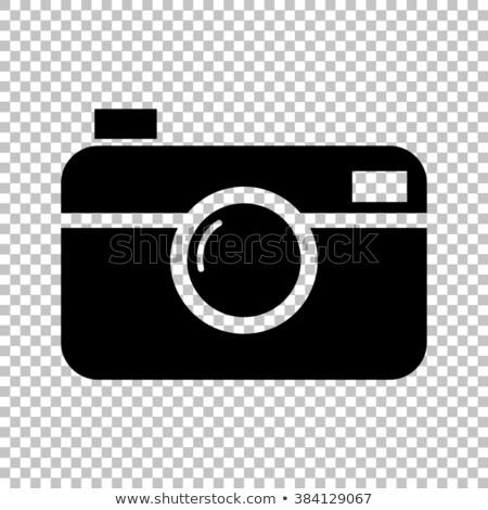 vector · vierkante · retro · camera · icon · gedetailleerd - stockfoto © tkacchuk