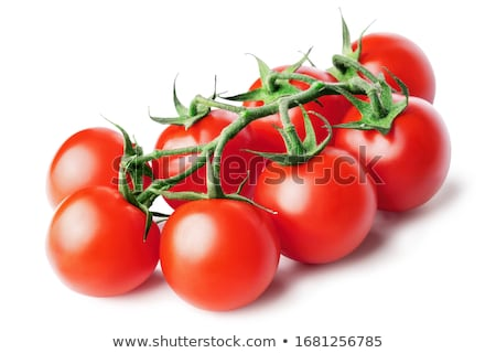 cluster of small red tomatoes with green Stock photo © philipimage