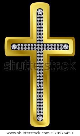 Diamond Пасху крест любви дизайна Сток-фото © carodi