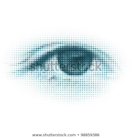 soyut · yarım · ton · dijital · göz · eps · vektör - stok fotoğraf © beholdereye