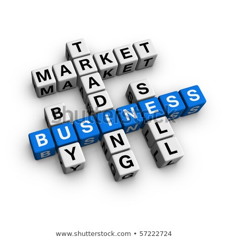 Stock Trading on Blue Puzzle. Stock photo © tashatuvango