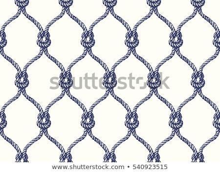 Kötél végtelen minta terv minta vonal fonál Stock fotó © ulyankin