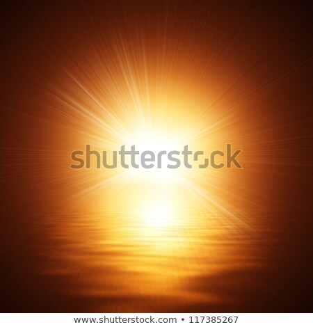 abstract illustration of light rays on the amber background stock photo © maximmmmum