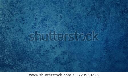 синий · окрашенный · стены · каменные - Сток-фото © cherezoff