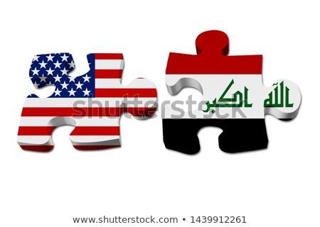 Zdjęcia stock: USA · Irak · flagi · puzzle · wektora · obraz